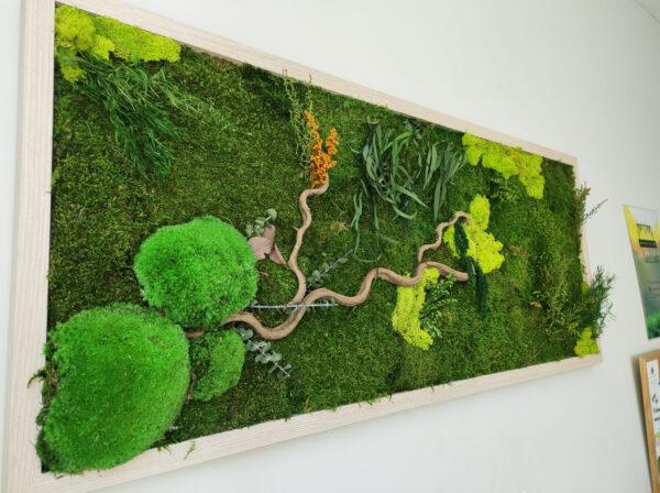 Jardin vertical con madera