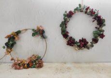 Coronas decorativas de flor preservada